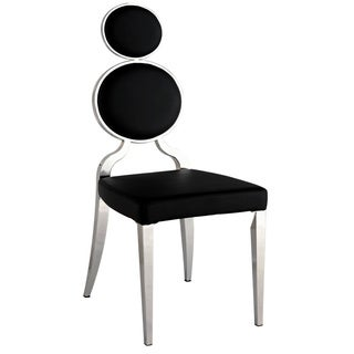 Somette Oriana Chrome/ Black Double Ring Back Side Chair (Set of 2)