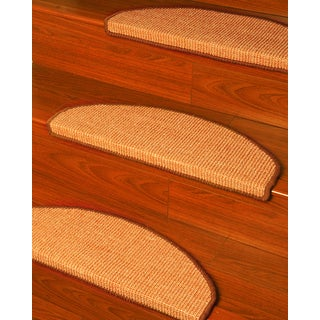 Natural Area Rugs Handcrafted Ideal Euro Beige Sisal Carpet Stair Tread ('9 x 2'5) (Set of 13)