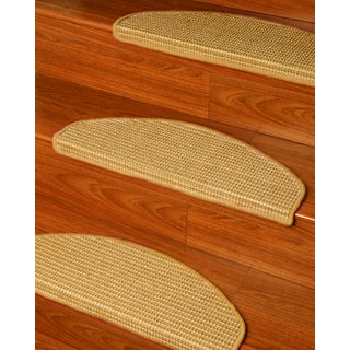 Natural Area Rugs Handcrafted Images Euro Beige Sisal Carpet Stair Tread ('9 x 2'5) (Set of 13)