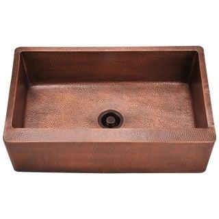 MR Direct 913 Copper Single Bowl Apron Sink
