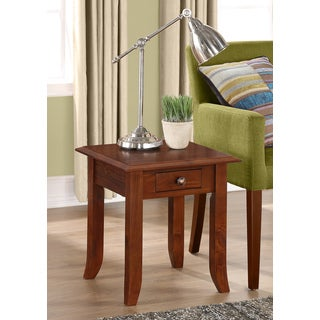 Collins Medium Mahogany Brown 19-inch Square End Table