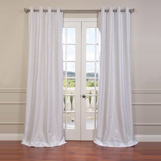 Textured Dupioni Faux Silk Grommet 84-inch Blackout Curtain Panel