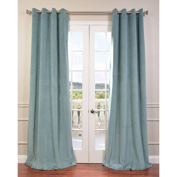 signature velvet grommet 108 inch blackout curtain panel overstock shopping great deals on. Black Bedroom Furniture Sets. Home Design Ideas