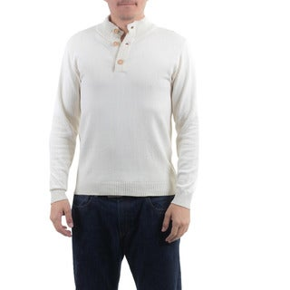 Men's Handcrafted Cotton 'Ivory Comfort' Sweater (Guatemala)
