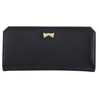 Zodaca Leather Bowknot Women Clutch Wallet Long Purse