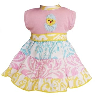 AnnLoren Boutique Chicky Pastel Damask Easter Doll Dress