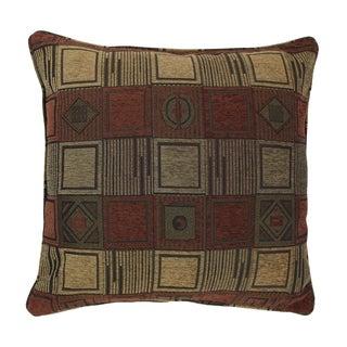 Blazing Needles 25-inch 'Manhattan' Jacquard Chenille Square Floor Pillow with Insert