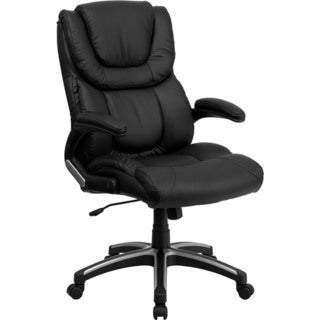 Offex OF-BT-9896H-GG High Back Black Leather Executive Office Chair