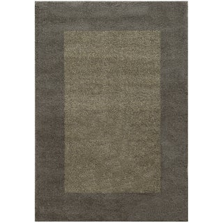 Two-tone Border Shag Grey/ Beige Rug (6'7 X 9'6)