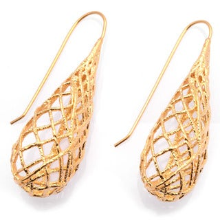 De Buman 18k Yellow Goldplated, 18k Rose Goldplated or Black Rhodium-plated Earrings