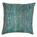 Blazing Needles 20-inch Teal Rainbow Yarn Threading Throw Pillow