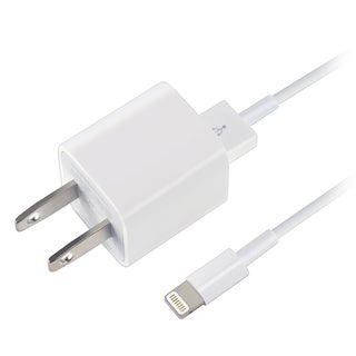 Apple OEM White USB Travel Charger Adapter With 8-pin Lightning Cable MD818ZM/A For iPad/ iPhone 5/ 5C/ 5S/ 6/ 6+/ iPod Touch