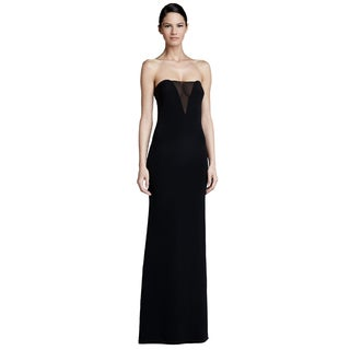 Emilio Pucci Black Strapless Sheer Inset A-line Evening Gown Dress
