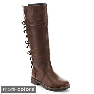 Kids Zone Big Girl's BOOTS-05 Back Knot Design Riding Boots