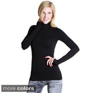 Nikibiki Women's Seamless Long Sleeve Mock Neck Top