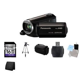Panasonic HC-V130 HD Camcorder 16GB Bundle