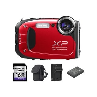 Fujifilm XP60 16MP Red Digital Camera and 16GB SD Card Bundle