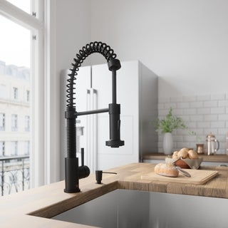 Vigo Matte Black Pull-out Spray Kitchen Faucet
