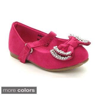 Jelly Beans Toddler Girls' 'YOYOMA' Glitter Bow Ballet Flats