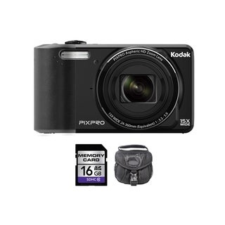Kodak PIXPRO FZ151 16MP Black Digital Camera 16GB Bundle