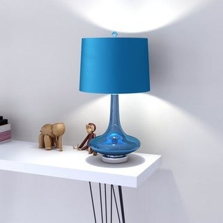 Modern Solid Blue Bray Table Lamp