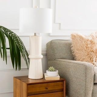 Elegant Solid Cream Eve Table Lamp