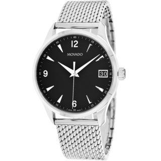 Movado Men's 0606802 Circa Round Silver-Tone Bracelet Watch