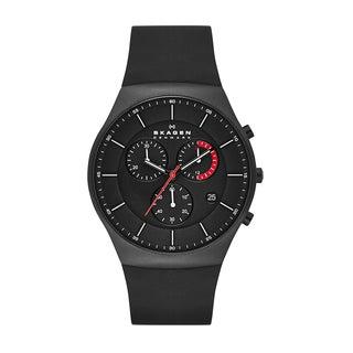 Skagen Men's SKW6075 Silicone Titanium Chronograph Watch
