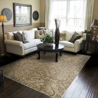 Heritage Faded Traditional Beige/ Grey Rug (6'7 X 9'6)