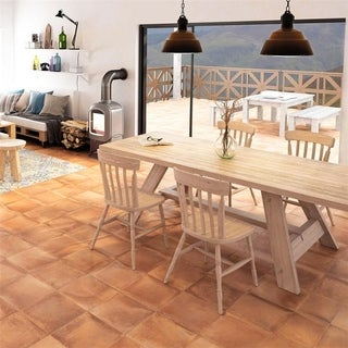SomerTile 13x13-inch Rustique Cotto Porcelain Floor and Wall Tile (Case of 9)