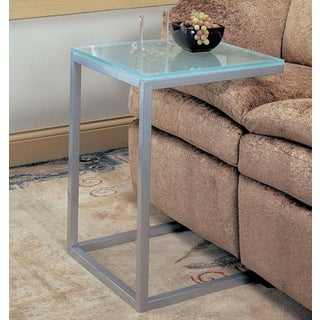 Century Glass-top End Table