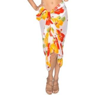 La Leela Hibiscus Swim Hawaiian Sarong