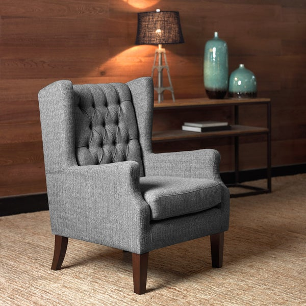 Overstock Living Room Chairs : Maxwell Salt and Pepper Wing Chair - Overstock Shopping ...