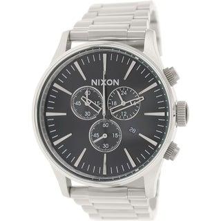 Nixon Men's Sentry A386000 Silver Stainless-Steel Quartz Watch