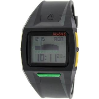 Nixon Men's 'Lodown II A2891329' Black Rubber Quartz Watch