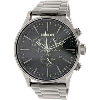 Nixon Men's Sentry A3861885 Grey Stainless Steel Quartz Watch