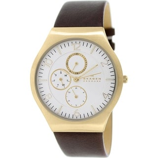 Skagen Men's Grenen SKW6144 Brown Leather Leather Quartz Watch