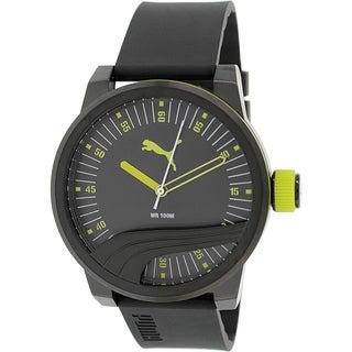 Puma Men's PU103831003 Black Rubber Quartz Watch
