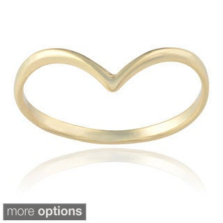Journee Collection Sterling Silver Angled Ring Band