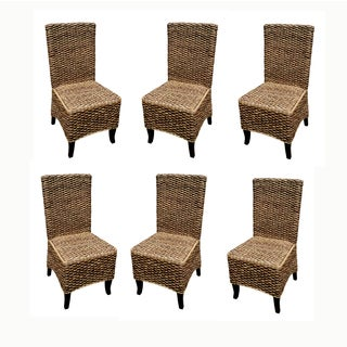 D-Art Set of 6 Seagrass Dining Chairs (Indonesia)