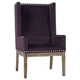 Tribeca II Purple Velvet Chair