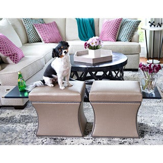 COUEF Label Madison Storage Ottoman with Pullout Shelf