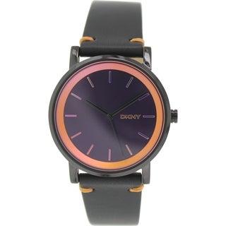 DKNY Women's Soho NY2263 Black Leather Quartz Watch