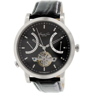 Kenneth Cole Men's KC8015 Black Leather Automatic Watch