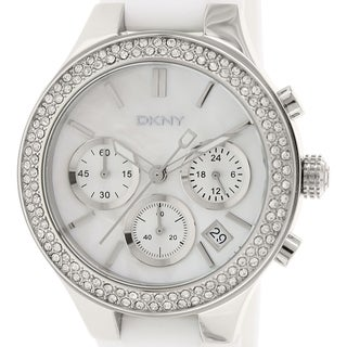 DKNY Women's NY8196 White Silicone Analog Quartz Watch