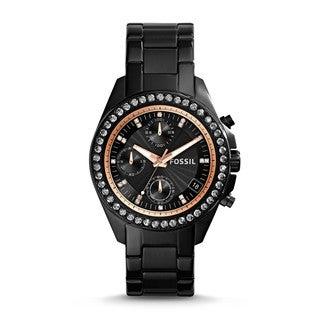 Fossil Women's Decker ES3596 Black Stainless Steel Quartz Watch