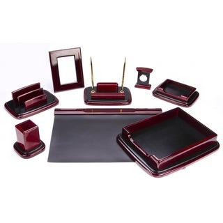9-piece Mahagony Oak Wood Desk Set