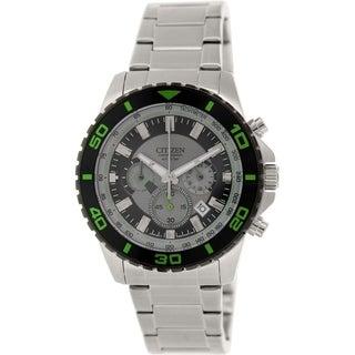 Citizen Men's Eco-Drive AN8030-58G Silvertone Stainless Steel Quartz Watch