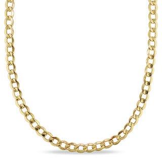 Miadora 10k Yellow Gold Men's 20 Inch Curb Link Necklace