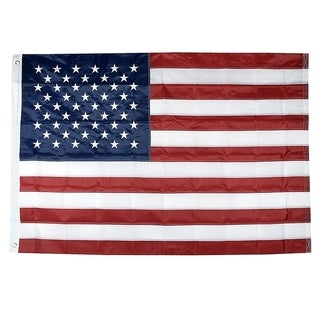 INSTEN 4x6-feet American Sewn Stripes Embroidered Stars National Flag